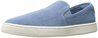 Puma Basket Classic Slip on Denim Fashion Sneaker