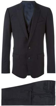 Dolce & Gabbana three piece micro dots suit