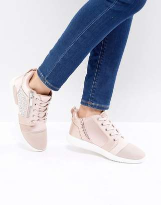 a046bac45966 at ASOS · Aldo Trainer in Satin with Embellishment