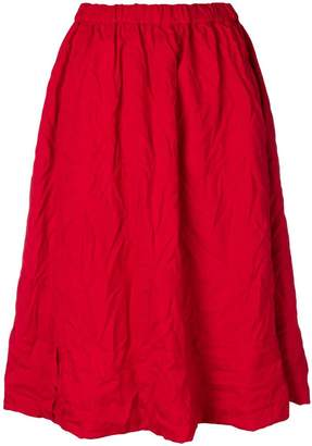 Comme des Garcons creases midi skirt
