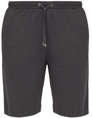 Zimmerli Cotton Blend Jersey Lounge Shorts - Mens - Black