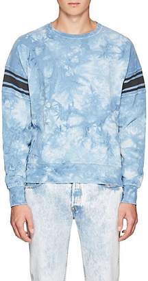 Remi Relief Men's Tie-Dyed Cotton Terry Sweatshirt - Blue