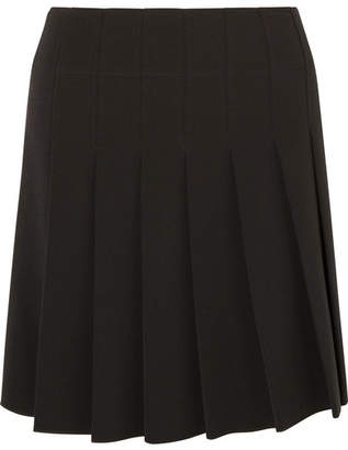 A.P.C. Ella Pleated Crepe Mini Skirt - Black