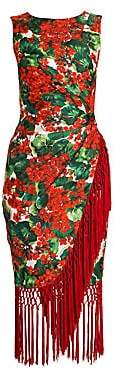 Dolce & Gabbana Women's Sleeveless Wrapped Fringe Dress