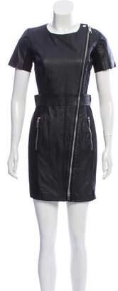 Rachel Zoe Leather Zip-Up Dress w/ Tags