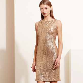 Ralph Lauren Sequined Cutout Dress $224 thestylecure.com