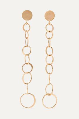 Melissa Joy Manning Net Sustain Gradient Circle 14-karat Gold Earrings