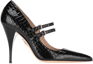 Miu Miu Croco-print Patent Leather Pumps