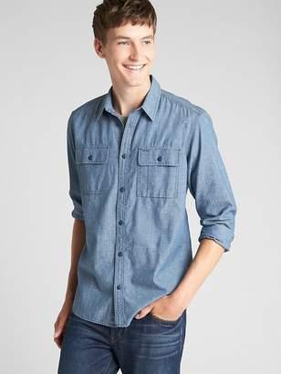 Gap Selvedge Denim Work Shirt