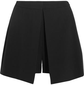 Alexander McQueen - Leaf Crepe Shorts - Black $945 thestylecure.com