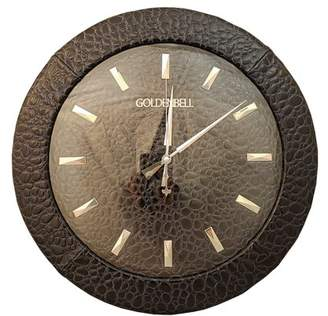Golden Bell GB All Faux Leather Textured Silent Analog Wall Clock