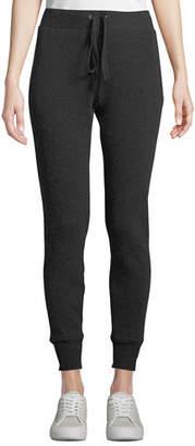 Enza Costa Cashmere Thermal Drawstring Jogger Pants