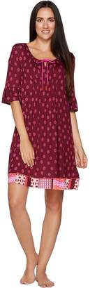 Ellen Tracy Jersey Knit Short Tunic with Neck Ties