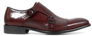 Stacy Adams Cap Toe Leather Double Monk-Strap Dress Shoe