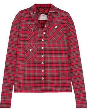 Ronald Van Der Kemp Checked Cotton-flannel Shirt