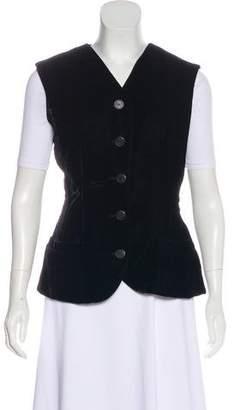 Christian Dior Velvet Button-Up Vest