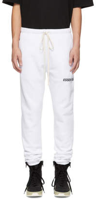 Essentials White Logo Lounge Pants