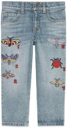 Gucci Insect Applique Jeans