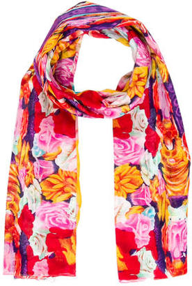 Kenzo Printed Floral Scarf $95 thestylecure.com