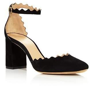Chloé Women's Lauren Suede Ankle Strap Pumps