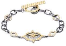 Freida Rothman Hammered New Star Station Bracelet