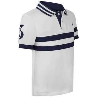 Ralph Lauren Ralph LaurenBoys White & Navy Polo Top