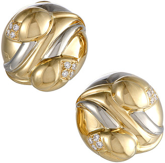 Bulgari Heritage 18K Two-Tone 0.25 Ct. Tw. Diamond Earrings