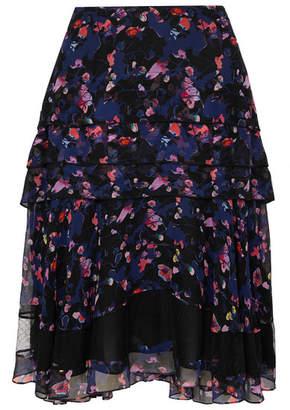 1fe872379 Jason Wu Collection - Tiered Floral-print Silk-chiffon Skirt - Purple