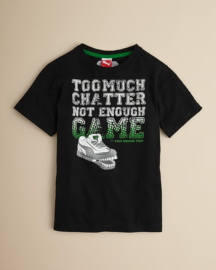 "Puma Toddler Boys' ""TOO MUCH CHATTER"" Tee - Sizes 2T-4T"