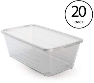 story. LIFE Life 6 Qt Rectangular Clear Plastic Protective Storage Shoe Box (20 Pack)