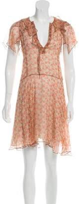Zadig & Voltaire Floral Silk Knee-Length Dress