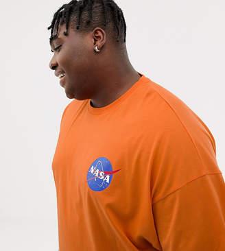 Asos DESIGN Plus NASA oversized t-shirt in orange