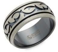 Black Titanium Band Ring