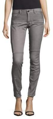 Maje Ruched Cotton-Blend Pants