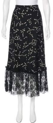 Emporio Armani Lace-Trimmed Midi Skirt