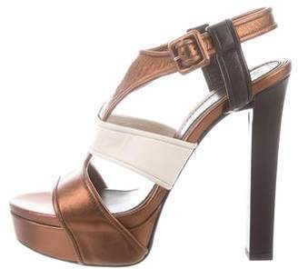 Gucci Platform Slingback Sandals