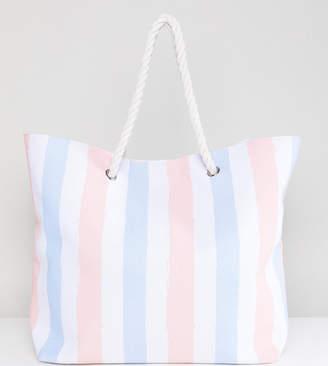 South Beach Stripe Beach Bag