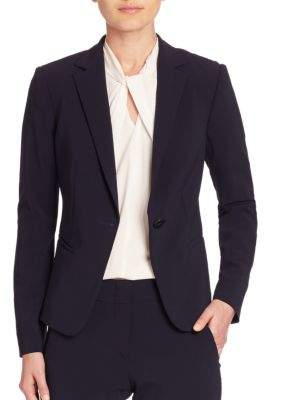 Armani Collezioni One-Button Wool Jacket