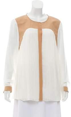 Tibi Silk- Blend Button- Up Top w/ Tags