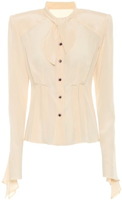 Dolce & Gabbana Silk-crepe blouse