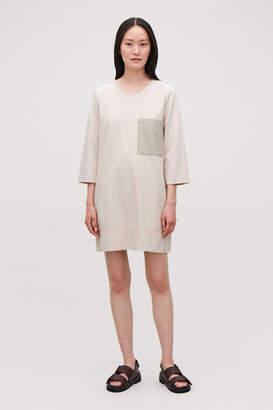 Cos CONTRAST-DETAIL T-SHIRT DRESS