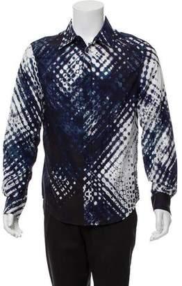 Just Cavalli Abstract Button-Up Shirt