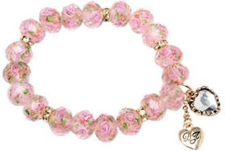 Betsey Johnson Flower Bead Stretch Bracelet