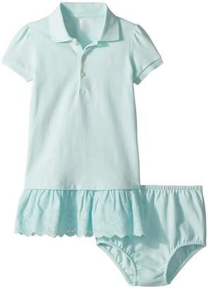 Ralph Lauren Eyelet Polo Dress Bloomer Girl's Active Sets
