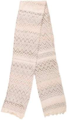 Missoni Knit Chevron Pattern Scarf