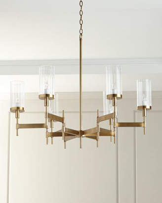 John-Richard Collection Contemporary Chandelier with Glass Shades