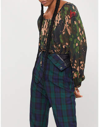 Vivienne Westwood Gypsy camouflage-print woven blouse