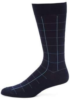 Pantherella Lambeth Motif Windowpane Socks