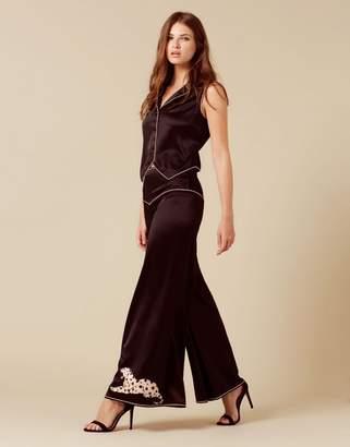 Agent Provocateur Selene Panther Pyjama Bottom Black