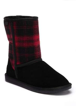 Minnetonka Pasco Plaid Genuine Shearling Lined Boot